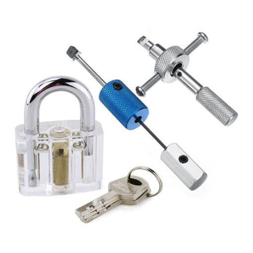 Clear Acrylic Disc Detainer Practice Lock Pick Training Tools